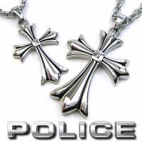 【送料無料】 POLICE ポリス ペアネックレス メンズ レディース GRACE クロスペンダント...