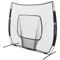 GP ジーピー 野球 簡単組立バッティングネット 硬式 軟式 ソフトボール用 縦200cm 横200cm ブラック 持ち運び楽