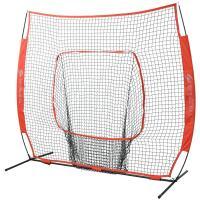 GP ジーピー 野球 簡単組立バッティングネット 硬式 軟式 ソフトボール用 縦200cm 横200cm レッド 持ち運び楽