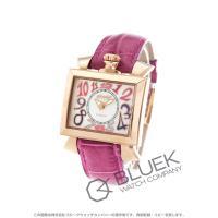 華やかな光沢放つ懐中時計モチーフの角形ピンクゴールドケースに、ホワイトシェルダイヤルと色鮮やかなピン...