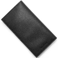 ブルガリの【クラシコ】長財布です。上質なブラックグレインボディに、ブランドアイコンがフロントに施され...