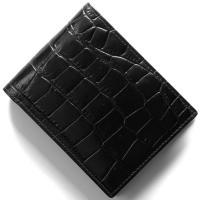 エッティンガー 二つ折り財布 財布 メンズ クロコ エボニーブラック 141J CC EBONY ETTINGER