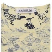 大きいサイズ メンズ launching pad 裏プリントアロハ柄半袖Tシャツ イエロー系 1158-8214-2 3L 4L 5L 6L