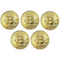5枚セット!  仮想通貨ビットコインをモチーフとした商品です。 コレクションや贈り物などにおススメで...