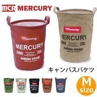 マーキュリー【MERCURY】キャンバスバケツ M MECABUM Canvas Bucket アメリカン雑貨 洗濯カゴ 収納 おもちゃ箱 折りたたみ
