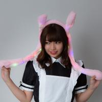 光るうさみみぴこぴこカチューシャ うさぎ ウサギ ウサ耳 うさぎ帽子 ウサギ帽子 カチューシャ 耳が動く ぴこぴこ 可愛い TikTok instagram SNS アニマル
