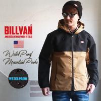 ジャケット BILLVAN 撥水 防風 2トーンカラー マウンテンパーカー メンズ アメカジ マンパー 送料無料