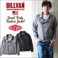 「BILLVAN」より、スウェット素材でカジュアルライクに仕上がったダブルライダースジャケットのご紹...
