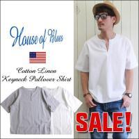 「HOUSE OF BLUES」より、ナチュラルなパナマ素材を生かした、シンプルデザインの半袖キーネ...