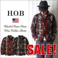 「H.O.B」より、インパクトのあるデザインと機能的な襟元が特徴の長袖レギュラーシャツのご紹介♪  ...
