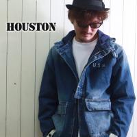 秋の早割セール対象 HOUSTON デニム インディゴ ネイビーパーカージャケット 50767 メンズ アメカジ 送料無料
