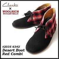 クラークス CLARKS 靴 メンズ  WOOLRICH ウールリッチ コラボ! DESERT BO...