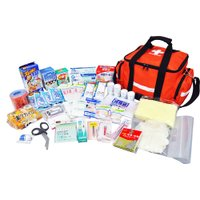 約10〜15人規模のオフィスや事業所などで使える救急セット  バッグはショルダーにもなるため、持ち運...