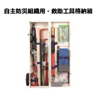 非常時に必要と思われる作業用工具を格納箱にセットしました。  各工具類をコンパクトに収納。マジックテ...