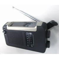 携帯ラジオアウトドア用品充電小型ラジオ手回しソーラーUSB充電式電池が不要AM/FMラジオ