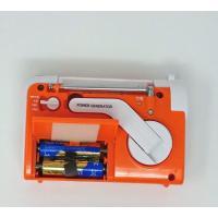 WINTECH 手回し充電AM/FMラジオライト(FMワイドバンド対応) オレンジ KDR-107D