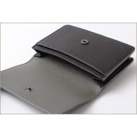 ボッテガヴェネタ カードケース/コインケース BOTTEGA VENETA イントレチャート レザー ブラック/グレー系 133945