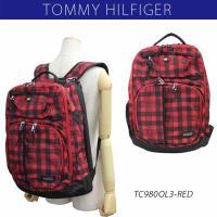 トミーヒルフィガー TOMMY HILFIGER リュックサック デイパック バックパック Buffalo Backpack TC980OL3 RED