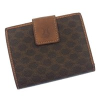 ■管理番号:C1503 【商品説明】 セリーヌの  がま口財布です♪ 定番人気のオシャレなマカダム柄...