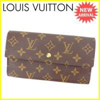 ■管理番号:C2498  ◆参考価格:57750円  【商品説明】 ルイヴィトンの三つ折り長財布です...