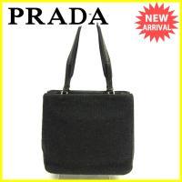 ■管理番号:D1403  【商品説明】 プラダの 「ロゴプレート付き」 トートバッグです。 ウォーム...