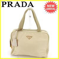 ■管理番号:E1117  【商品説明】 プラダ【PRADA】の  ハンドバッグです。 定番人気のトラ...