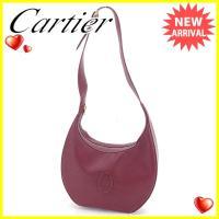 ■管理番号:F1225  【商品説明】 カルティエ【Cartier】の  ショルダーバッグです。 定...