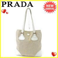 ■管理番号:G1121  【商品説明】 プラダ【PRADA】の  トートバッグです。  ◆ランク 【...