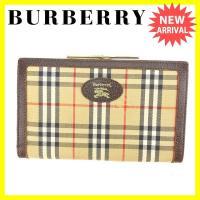 ■管理番号:I365  【商品説明】 バーバリー【BURBERRY】の  がま口財布です。 バーバリ...