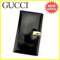 ■管理番号:K356  【商品説明】 グッチの  長財布です。 ブランドの象徴的なGマーク付き☆収納...