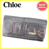 ■管理番号:L1333  【商品説明】 クロエ【Chloe】の  長財布です。 重なり合うロゴが印象...