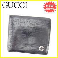 ■管理番号:L1345  【商品説明】 グッチ【GUCCI】の  二つ折り財布です。 ブランドの象徴...