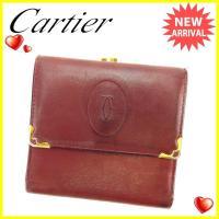 ■管理番号:L925  【商品説明】 カルティエ【Cartier】の  がま口財布です。 コンパクト...