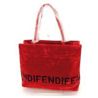 ■管理番号:N357  【商品説明】 フェンディの  トートバッグです。 印象的なレッドカラー☆内側...