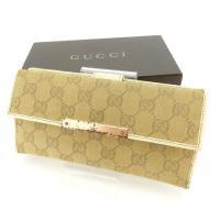 ■管理番号:P463  【商品説明】 グッチの  長財布です。 定番人気のGGキャンバス☆機能的なW...