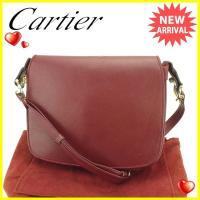 ■管理番号:T1721  【商品説明】 カルティエ【Cartier】の  ショルダーバッグです。 定...