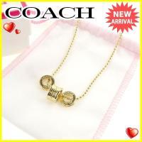 ■管理番号:T1729  【商品説明】 コーチ【COACH】の 「ラインストーン付き」 ネックレスで...