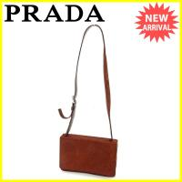 ■管理番号:T3685  【商品説明】 プラダ【PRADA】の  ショルダーバッグです。 高級なハラ...