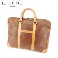 ■管理番号:T7192 【商品説明】 エトロ【ETRO】の  ブリーフケースです。 定番人気のペイズ...