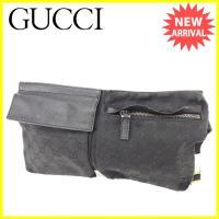 ■管理番号:J16940  【商品説明】 グッチ【GUCCI】の  ウエストバッグです。 定番人気の...