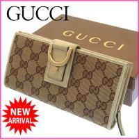 ■管理番号:J5894  【商品説明】 グッチの 長財布です♪ 定番人気のGGキャンバスに上品なアビ...