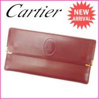 ■管理番号:J6336  【商品説明】 カルティエ【Cartier】の  がま口財布です♪  ◆ラン...