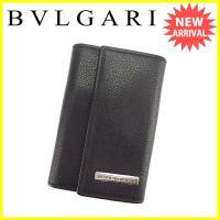 ■管理番号:K438  【商品説明】 ブルガリ【BVLGARI】の  キーケースです。 高級感のある...
