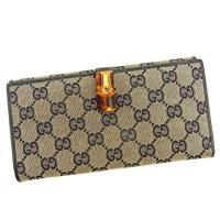 ■管理番号:L1522  【商品説明】 グッチ【Gucci】の  長財布です。 Wホックで札入れと小...