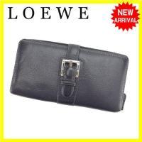 ■管理番号:L535  【商品説明】 ロエベの  長財布です。 スタイリッシュなベルトデザイン☆収納...