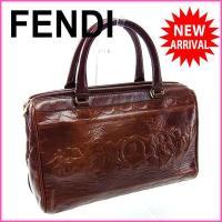■管理番号:Y2518  【商品説明】 フェンディの  ハンドバッグです♪ ヴィンテージ感のある絵画...