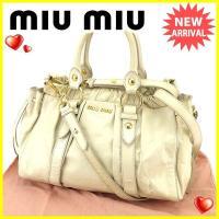■管理番号:Y7122  【商品説明】 ミュウミュウ【miu miu】の  2WAYショルダーバッグ...