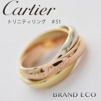 【送料無料】Cartier【カルティエ】レディーストリニティリング 【中古】#51 11号 750W...