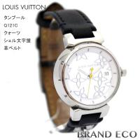 【送料無料】LOUISVUITTON【ルイヴィトン】タンブールレディースクオーツ腕時計Q121C革ベ...