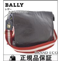 【送料無料】 BALLY【バリー】 レザー メッセンジャーバッグ ショルダーバッグ メンズ ダークブ...